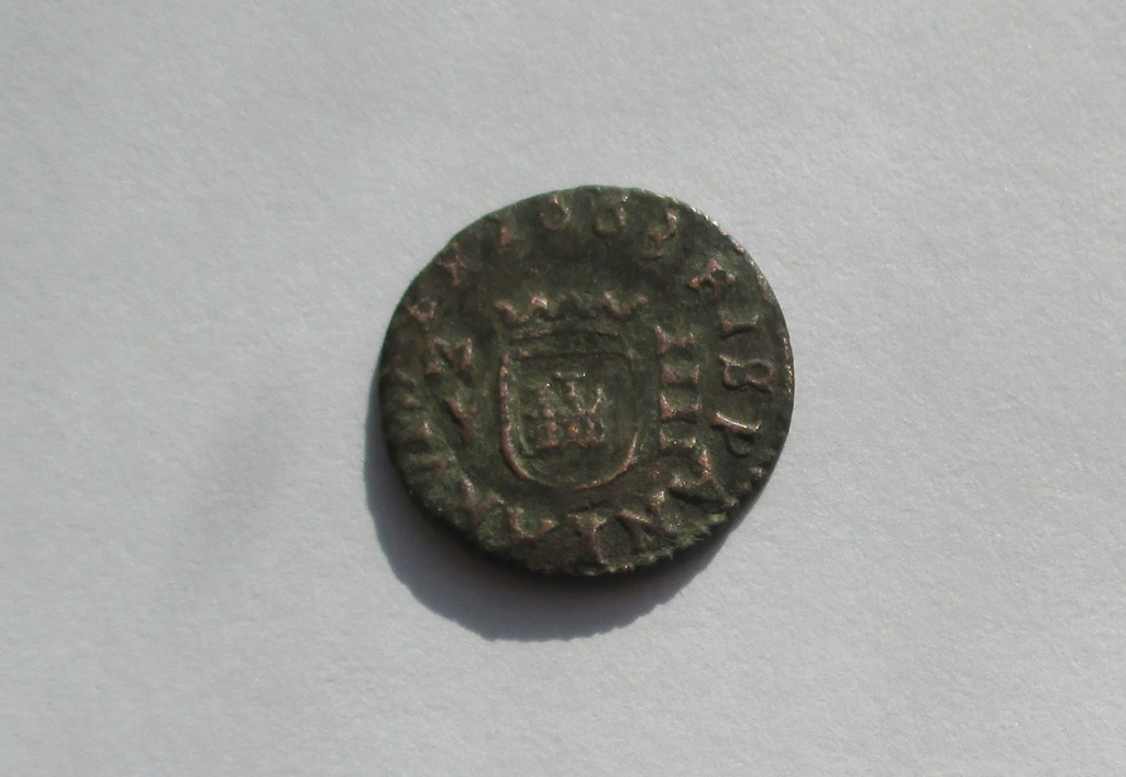 4 maravedís de Felipe IV acuñados en Madrid en 1663. Img_1627