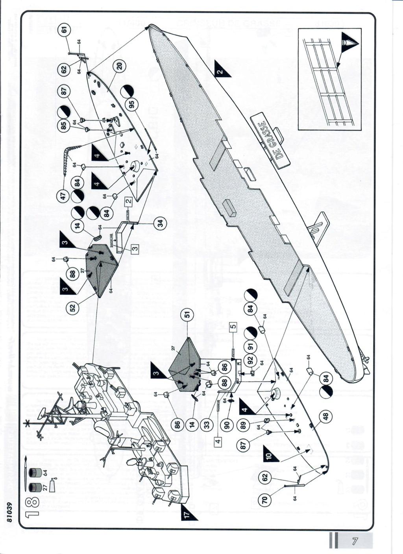 Croiseur anti-aérien DE GRASSE 1/400ème Réf 81039 Notice17