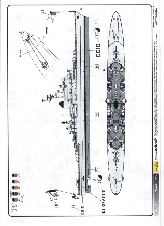 Croiseur anti-aérien DE GRASSE 1/400ème Réf 81039 Notice18