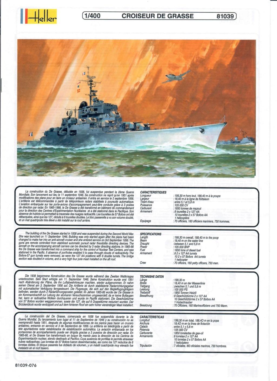Croiseur anti-aérien DE GRASSE 1/400ème Réf 81039 Notice19