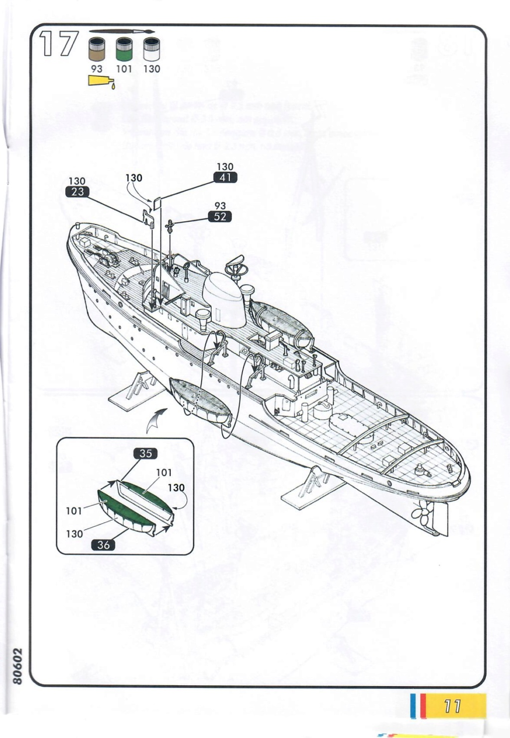 Remorqueur JEAN BART port d attache boks01 1/200ème Réf 80602 Notice28