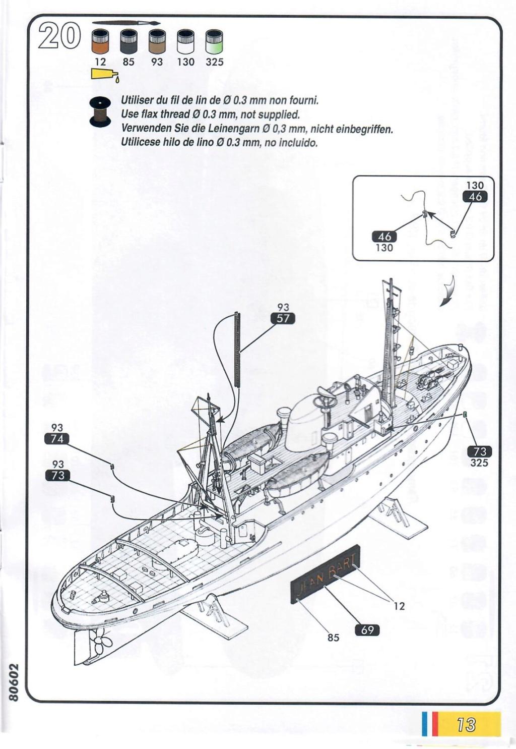 Remorqueur JEAN BART port d attache boks01 1/200ème Réf 80602 Notice32