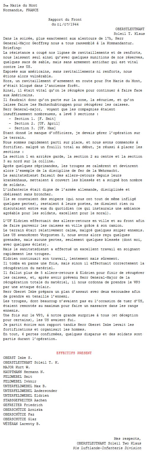 Rapports du Front - Soleil Two Klaus Captur14