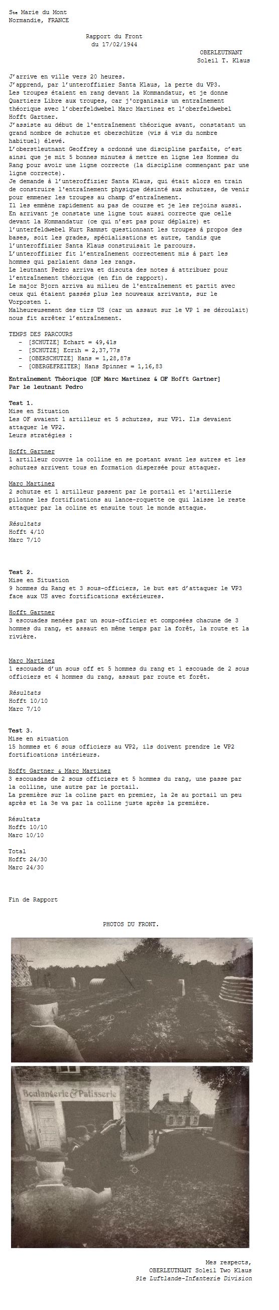 Rapports du Front - Soleil Two Klaus Rtgz13