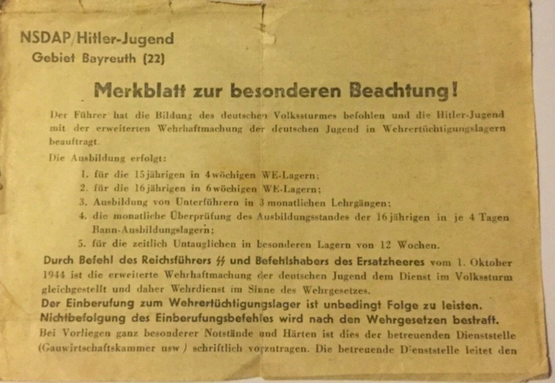 Traduction document du NSDAP Hitler-Jugend ? S-l16010
