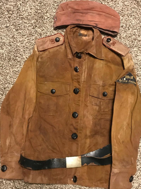 Original WW2 German Youth Tunic Uniform And Side Cap ? S-l1611