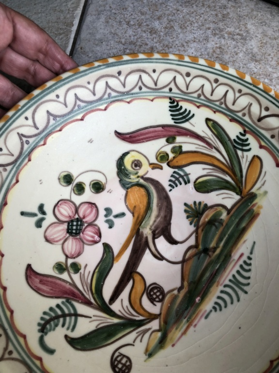 Bird and Deer Hand Painted Ceramic Plates Img-5710