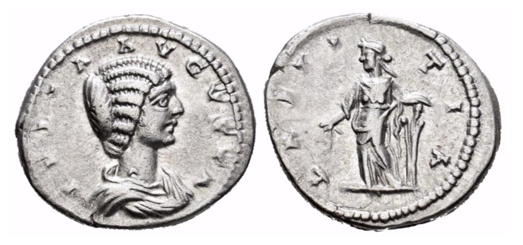 Denario de Julia Domna. LAETITIA. Laodicea ad Mare Julia_10
