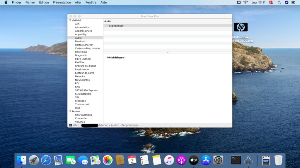 Problèmes post-installation Catalina sur HP Elitbook 8470p Captur10