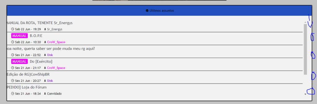 Arrumar dimensão do widget últimos assuntos Captur14