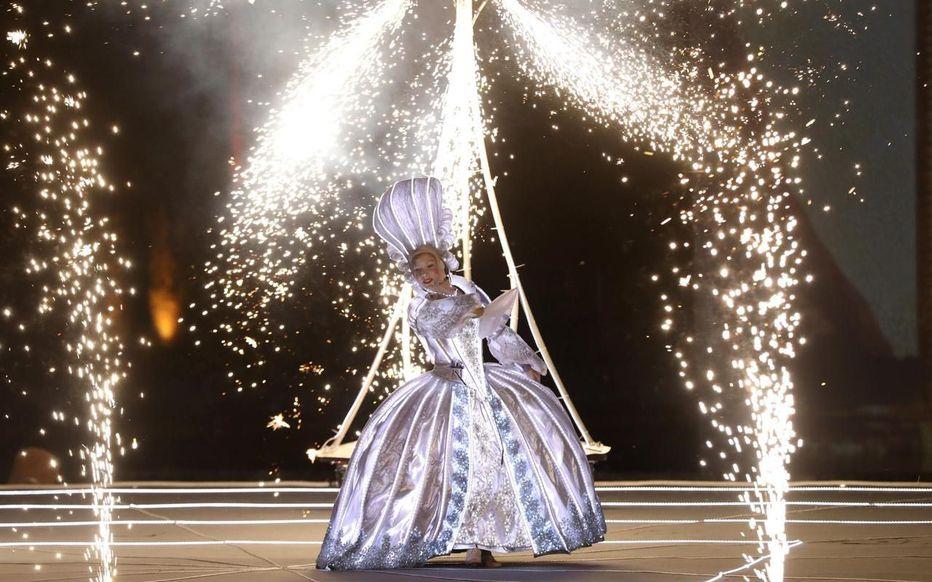 Marie-Antoinette, le destin d'une reine. Spectacle pyrotechnique, Orangerie du château de Versailles  Zfer10