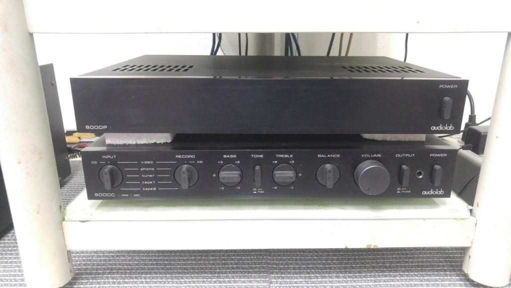 Used Audiolab 8000C Pre and 8000P Power Amp 20181110