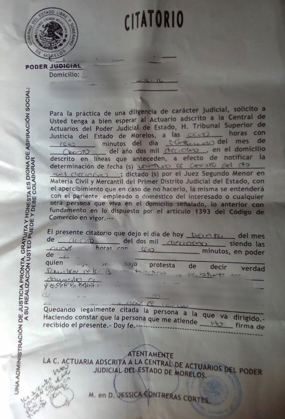 Bancomer nos demandó y embargó bienes ME URGE AYUDA 496e6f10