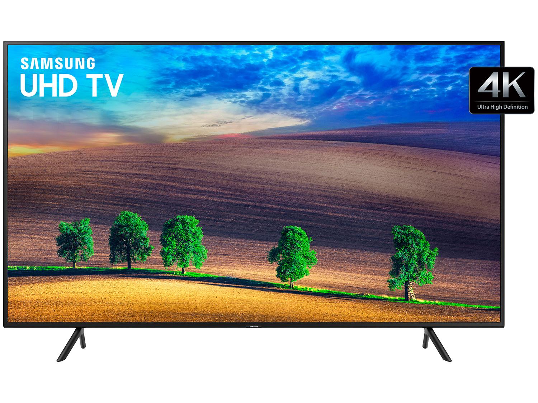 "Smart TV 4K LED 55"" Samsung NU7100 Wi-Fi HDR - Conversor Digital 3 HDMI 2 USB 45710"