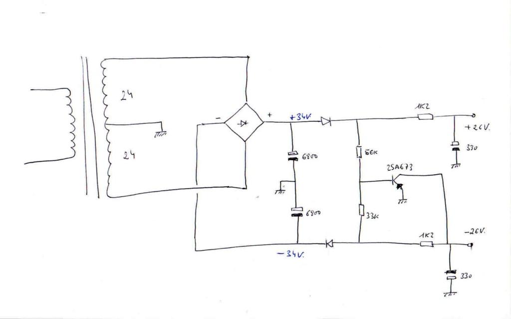 ¿Que mision tiene este transistor en esta fuente simetrica? Fuente10