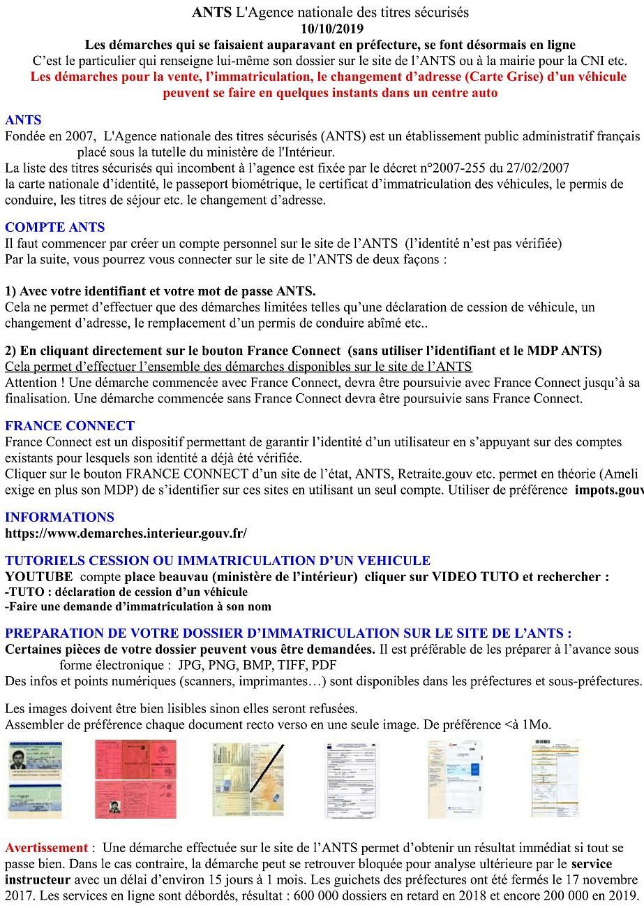 Tutoriel Cession ou immatriculation sur le site de l'ANTS  Tuto_i10
