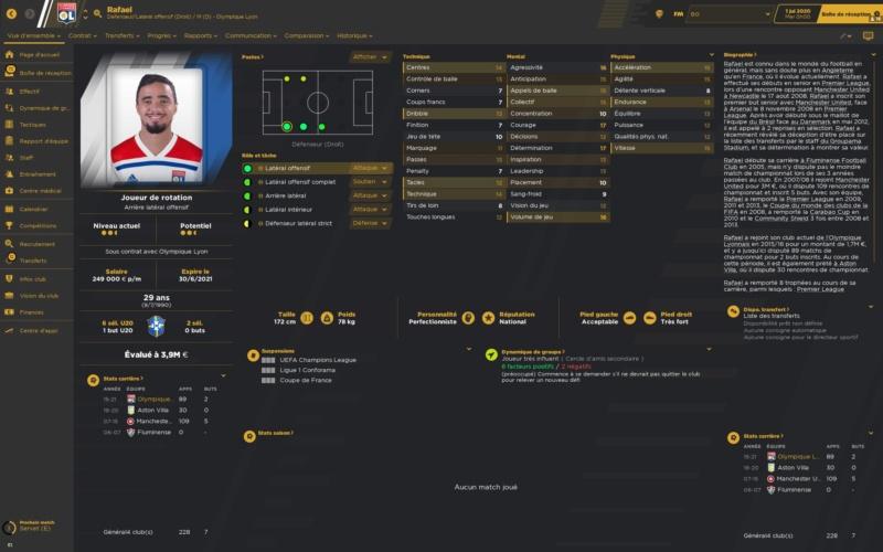 Départs Olympique lyonnais Rafael10