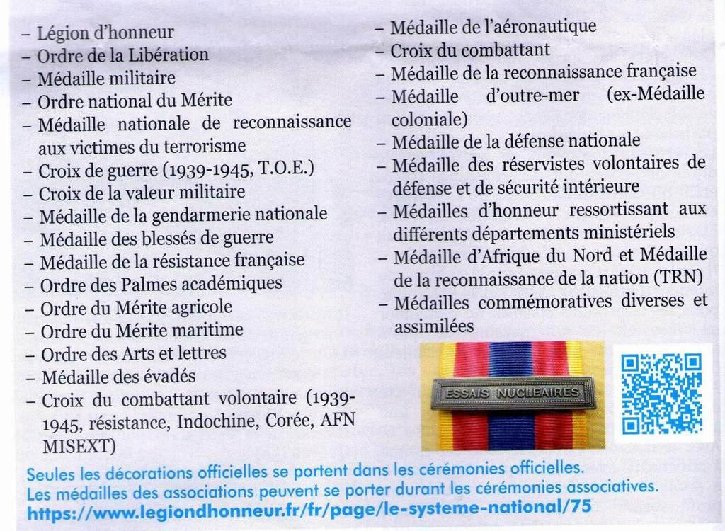 [LES TRADITIONS DANS LA MARINE] LE PORT DES DÉCORATIONS - Page 19 Img63510