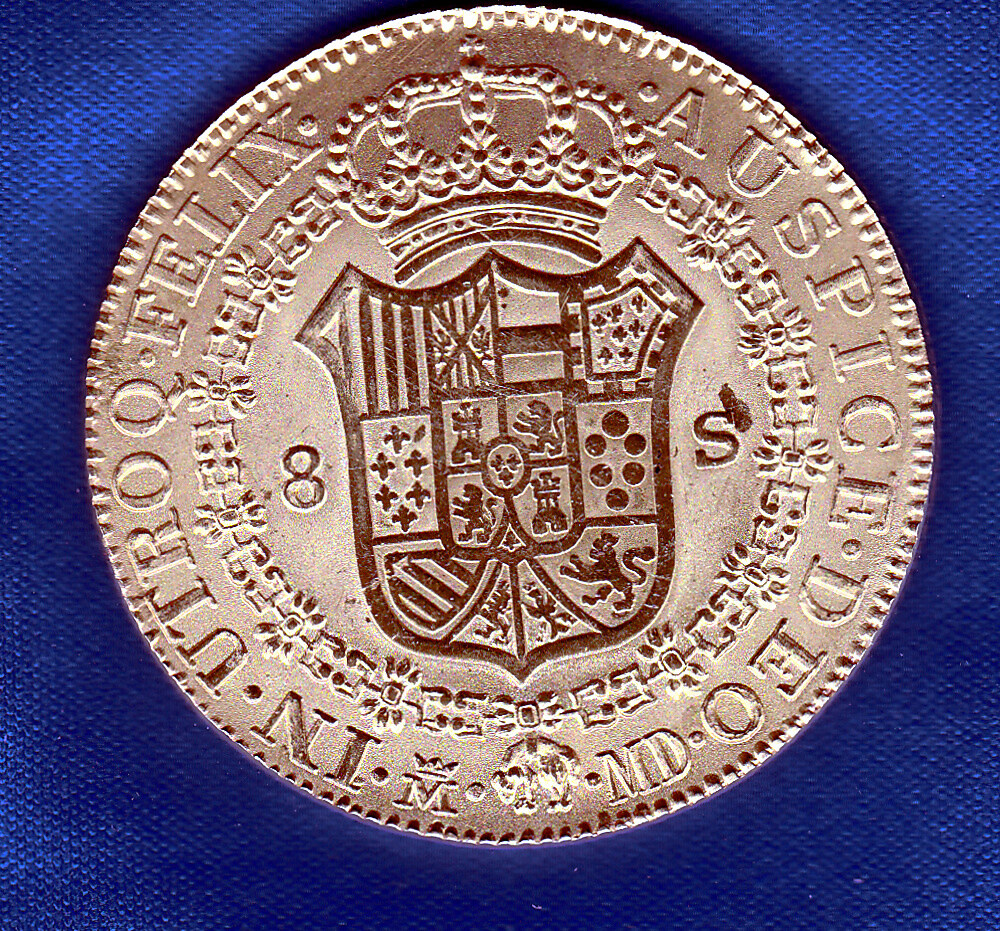 8 Escudos Carlos IV 8-escu11
