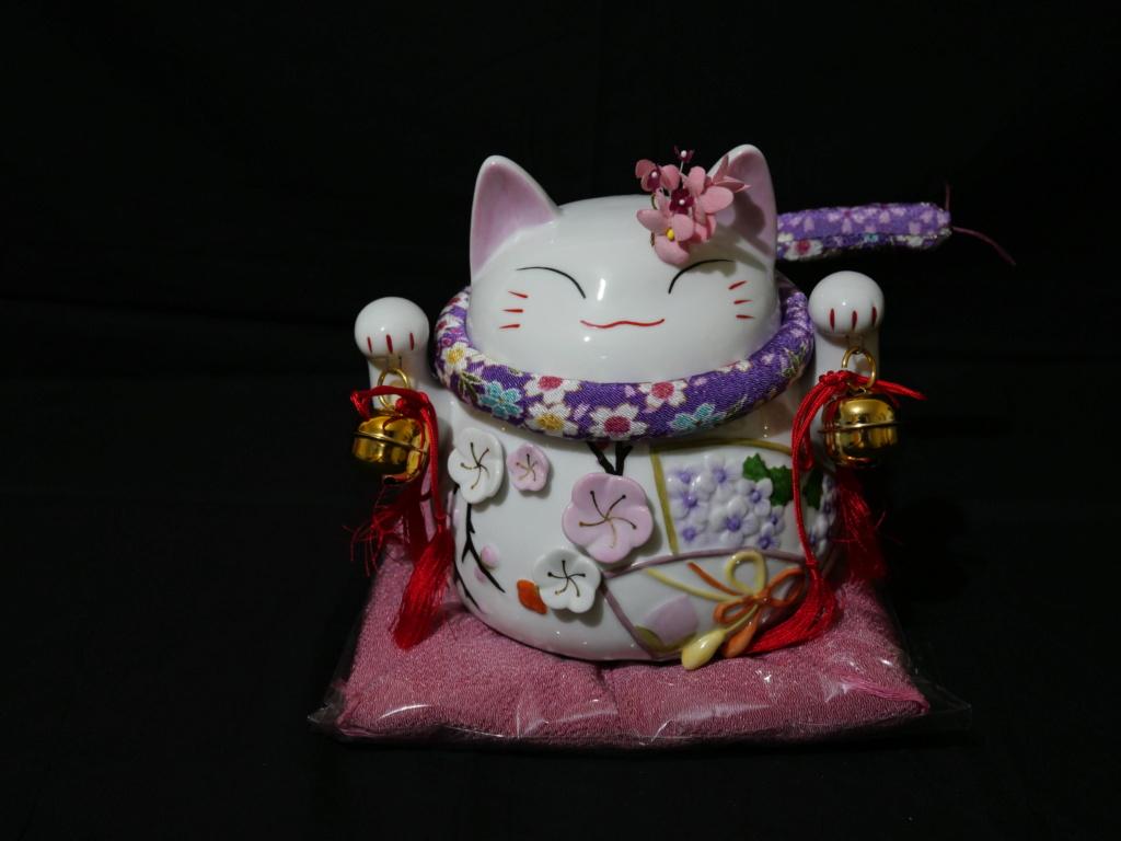 Maneki neko japonais au couleurs du printemps japonais  30e04210