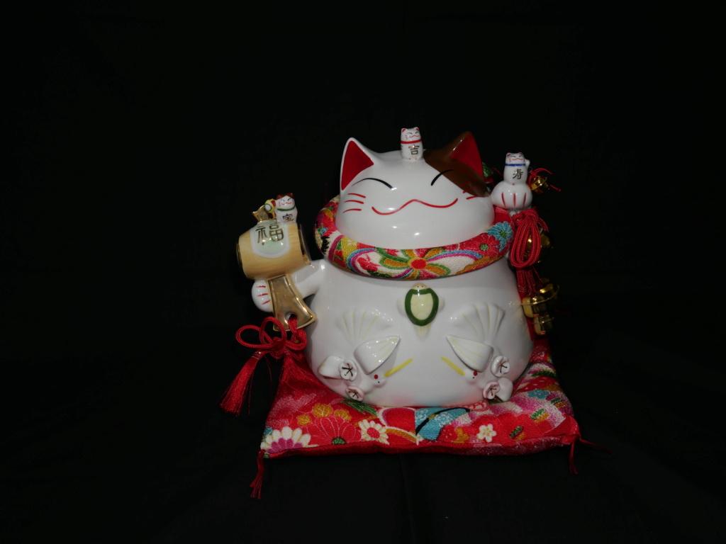Maneki neko japonais au couleurs du printemps japonais  8a582910