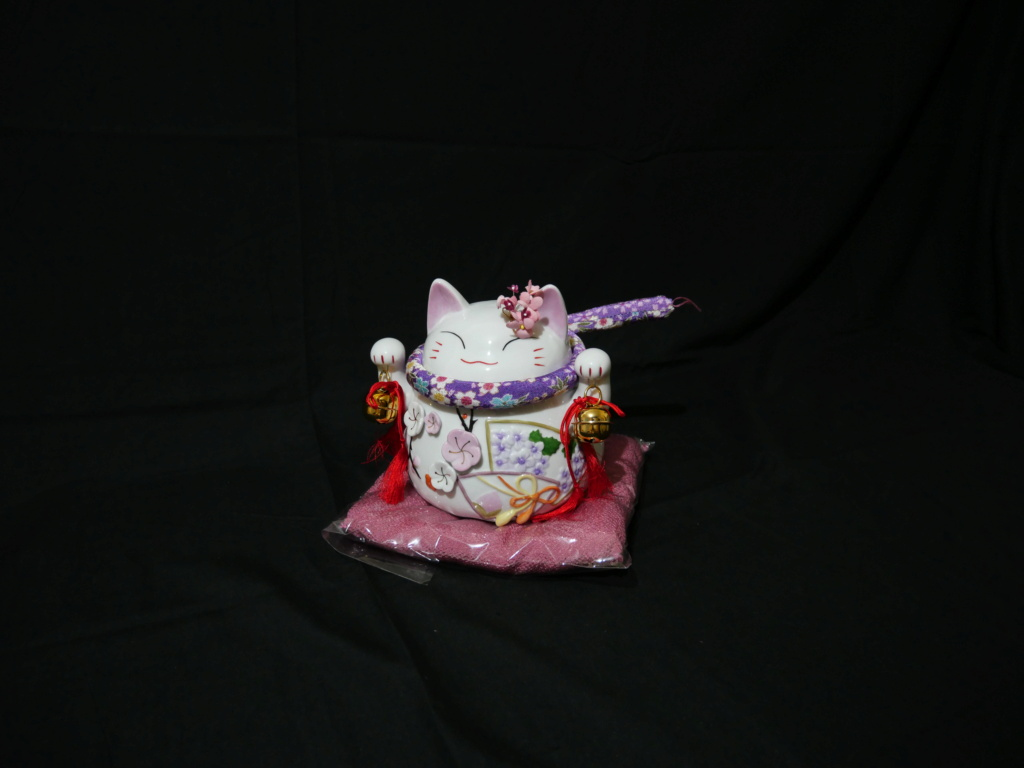 Maneki neko japonais au couleurs du printemps japonais  B9388e10