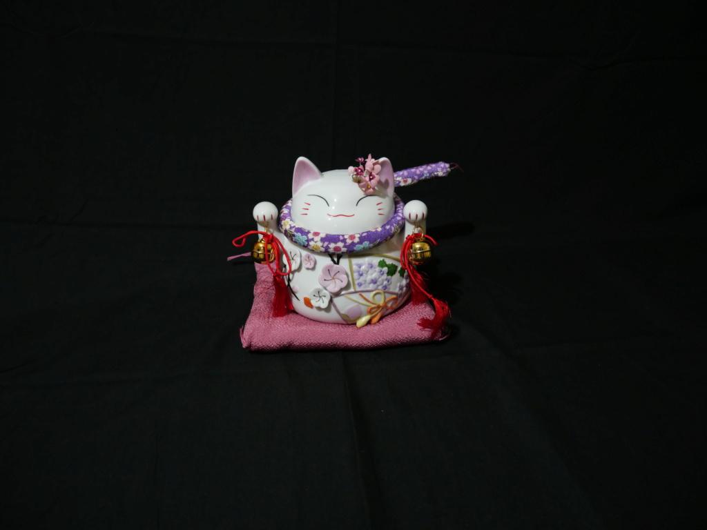 Maneki neko japonais au couleurs du printemps japonais  E6983410