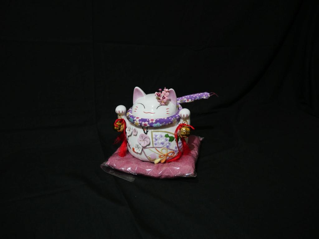 Maneki neko japonais au couleurs du printemps japonais  F887f110