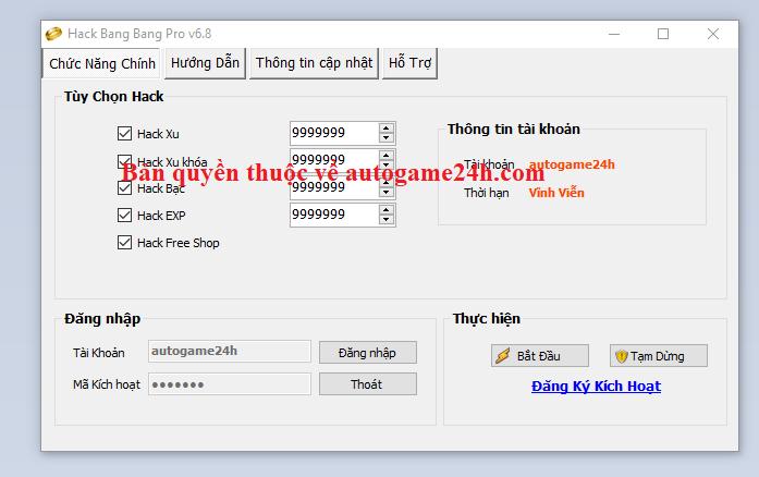 Hack BangBang, hack tank Bang Bang miễn phí Bangba10