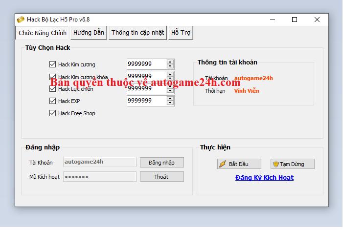 Hack Bộ Lạc H5 miễn phí Bolach10