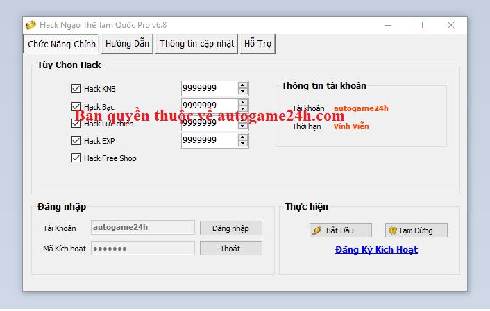 Hack Ngạo Thế Tam Quốc Mobile miễn phí Ngaoth10