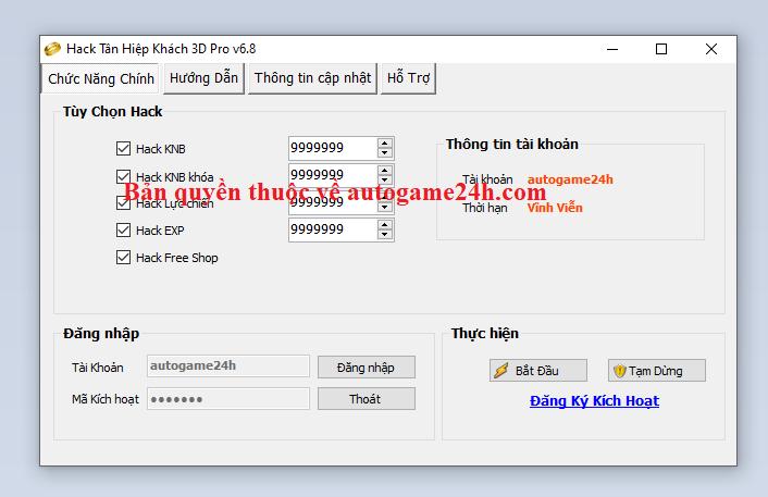 Hack Tân Hiệp Khách 3D miễn phí Tanhie10
