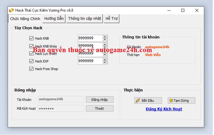 Hack Thái Cực Kiếm Vương miên phí Thaicu10