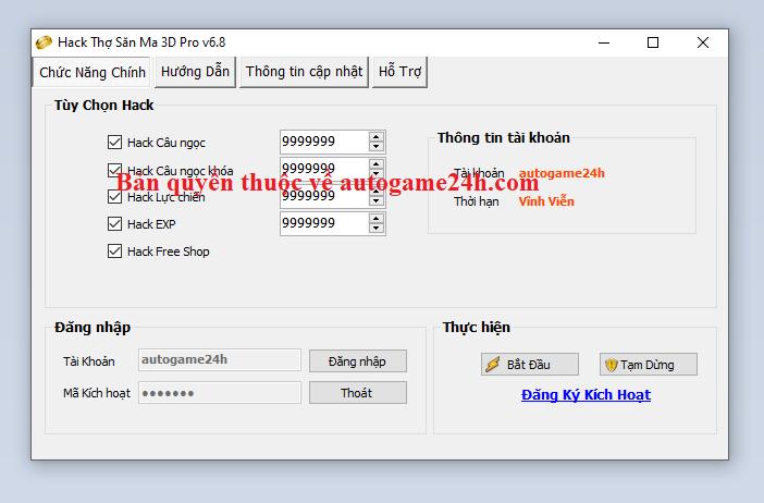 Hack Thợ Săn Ma 3D miễn phí Thosaw10