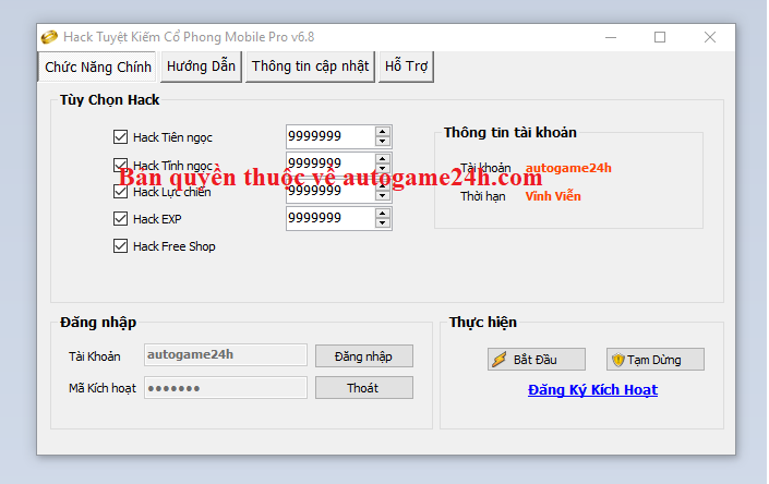 Hack Tuyệt Kiếm Cổ Phong Mobile miễn phí Tuyetk10