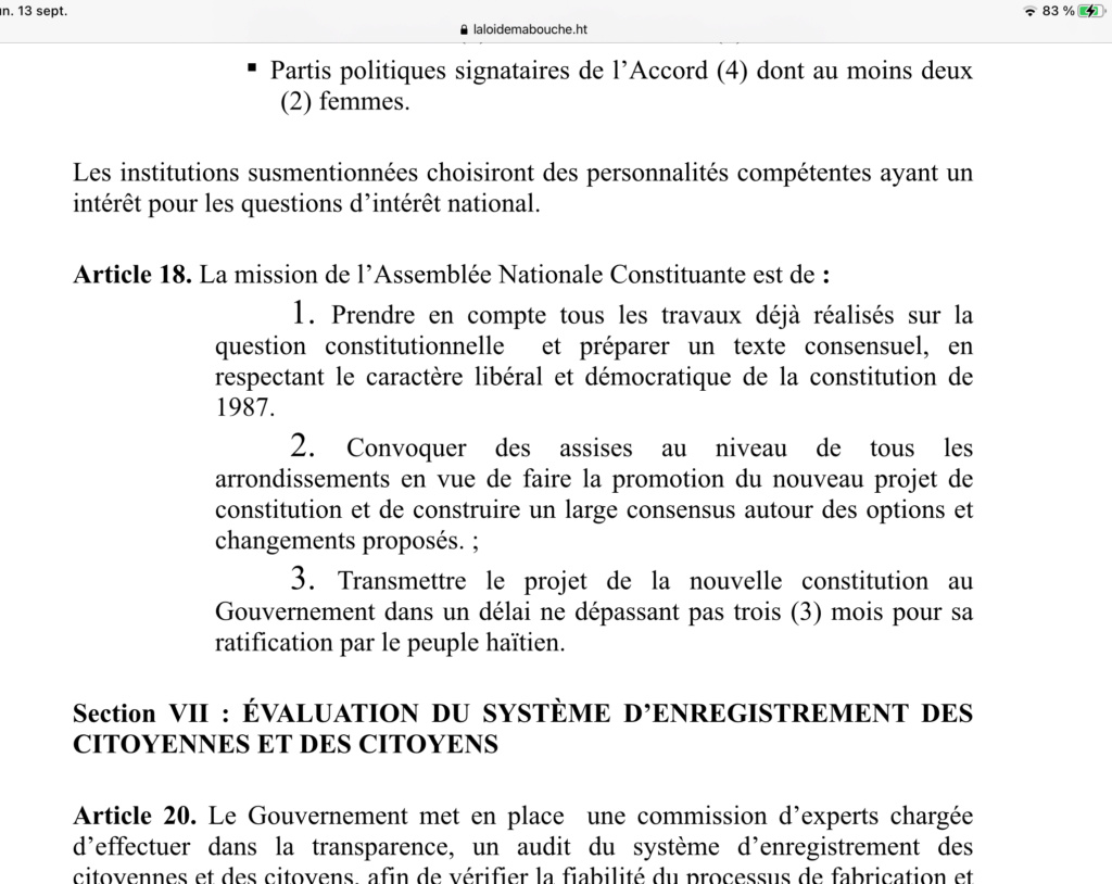 Il faut une nouvelle constitution en Haiti 12e72210