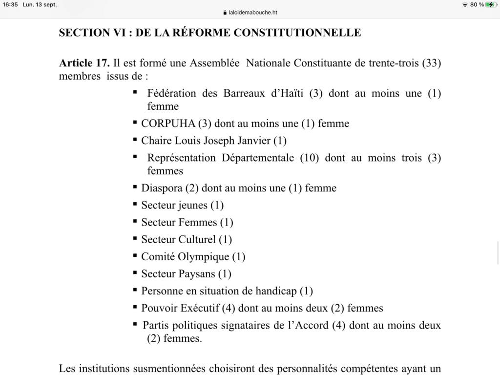Il faut une nouvelle constitution en Haiti Fdfb9e10