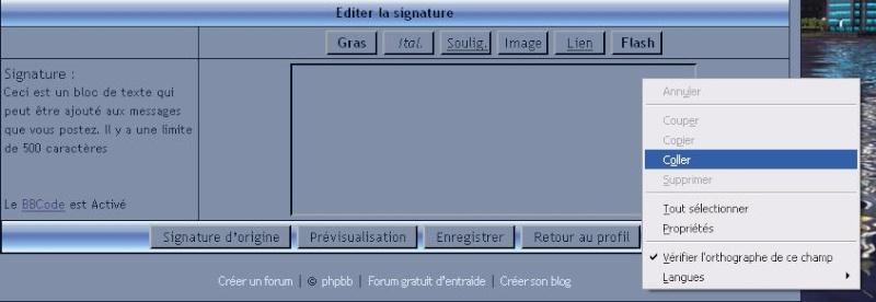 insérer une réglette dans votre signature Coller10