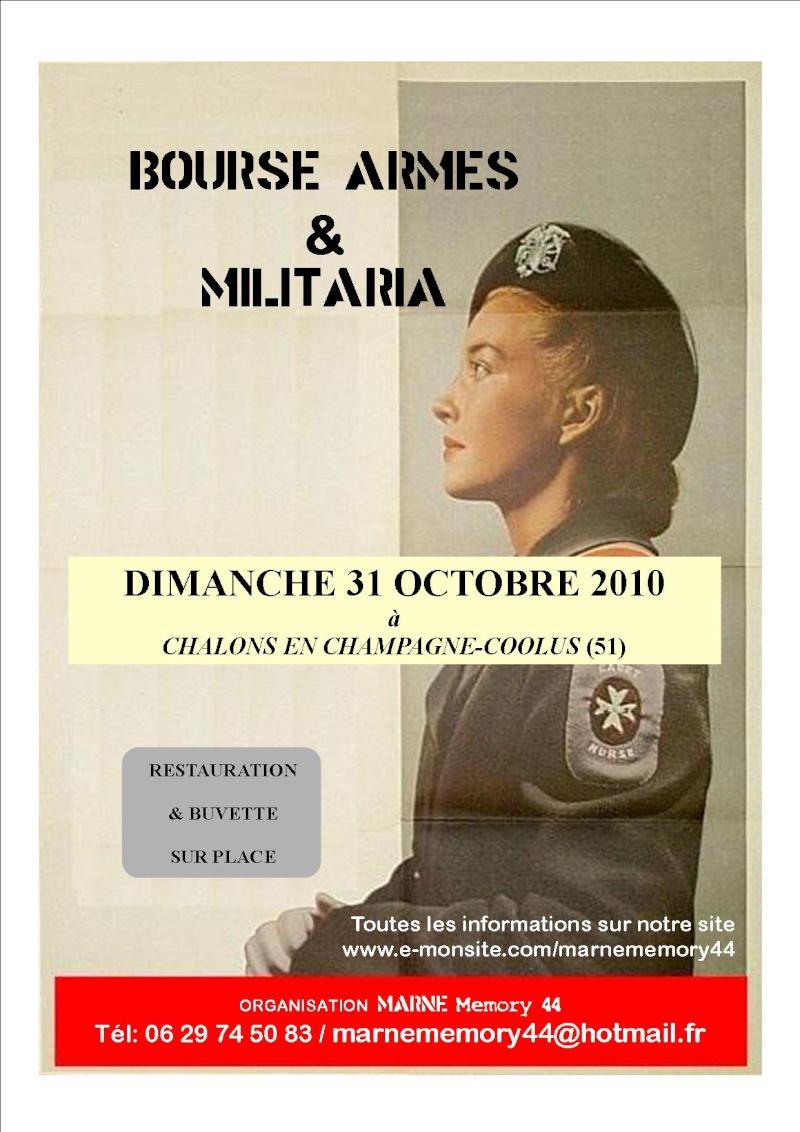 Bourse aux armes à châlons en champagne-coolus le 31/10/2010 Affich10