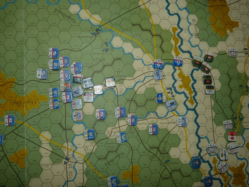 Napoléon at Leipzig - Clash of arms - CR de bataille Ilot10