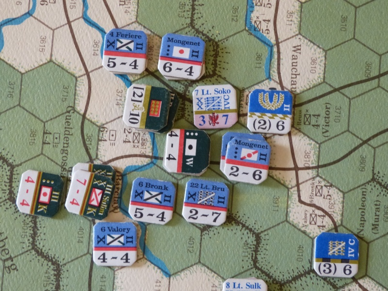 Napoléon at Leipzig - Clash of arms - CR de bataille Witt_e10