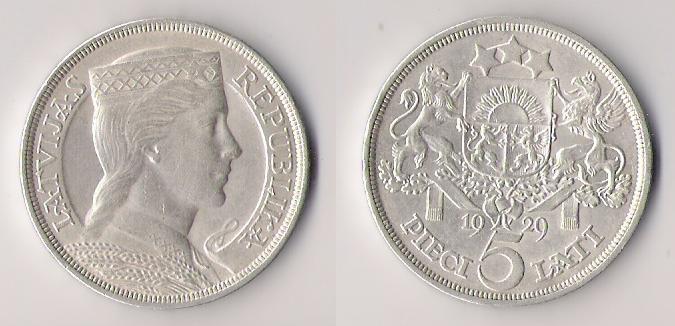 Letonia, 5 lati, 1929 Letoni10