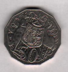 Australia, 50 centavos, 2006 Cruz_a10