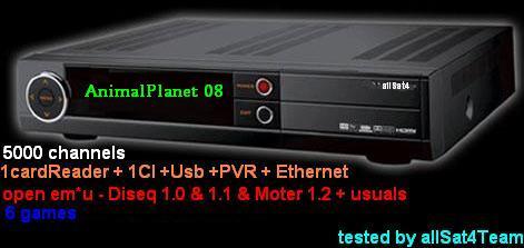 Δορυφορικός δέκτης allSat4 1cardReader 1CI USB PVR Ethernet Stb_et10