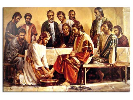 Y les lavó los pies.... Jesus_10