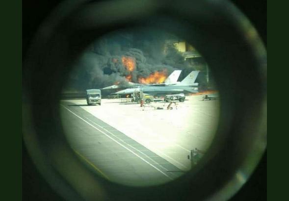 Florennes : un F-16 détruit par une explosion au sol !!! 10100216