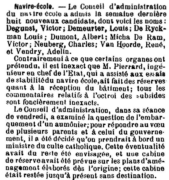 Histoire des navires-écoles de l'Association Maritime Belge - Page 2 1905_012