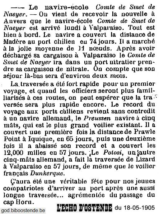 Histoire des navires-écoles de l'Association Maritime Belge - Page 2 1905_032