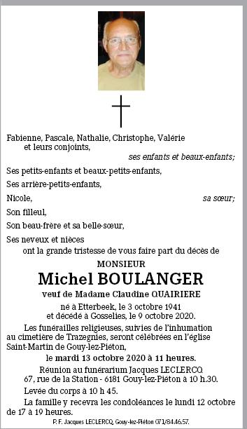 """Décès du membre """"papy michel"""" (Michel Boulanger) ! 20201010"""