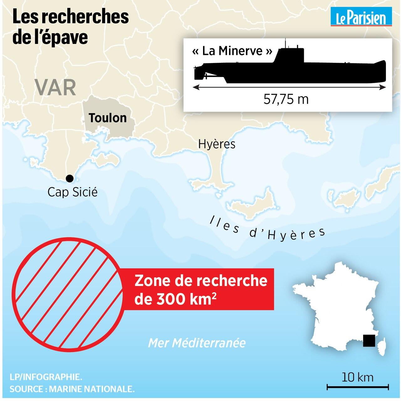 Reprise des recherches du sous-marin MINERVE E5734c10